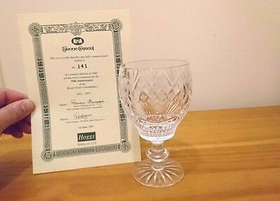 RARE TYRONE CRYSTAL ROYAL ULSTER CONSTABULARY 75th ANNIVERSARY GLASS LIMITED EDT