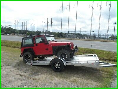 Mission 6.5 x 14' tilt single axle car hauler atv utility trailer New aluminum