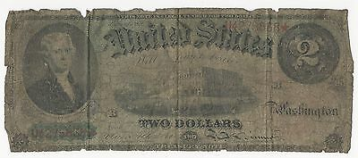 1869 $2 Two Dollar Legal Tender Currency Note