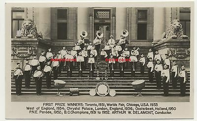 Vancouver Canada Boys Band RP Postcard c1952