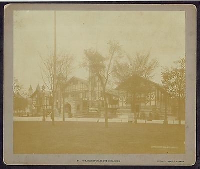 1893 Columbian Exposition C D Arnold Washington State Building Large Photograph
