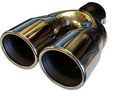 Audi A3 6.35''/170MM TWIN EXHAUST TIP TAIL PIPE PIECE STAINLESS STEEL CLIP ON