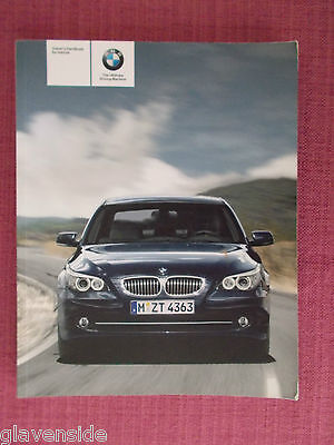 Bmw 5 Series E60 Saloon & E61 Touring  Owners Manual - Guide - Handbook (Bm 571)