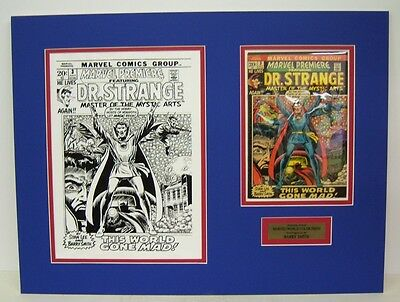 Org. Production Art BARRY SMITH Marvel Premiere #3, matted w/comic DR. STRANGE