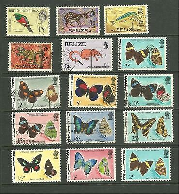 Belize: 1962-1974 A selection Used + M/M
