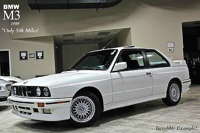 1989 BMW M3  1989 BMW M3 Coupe INCREDIBLE Only 54k MLs ALPINE WHITE 5Spd SUNROOF Serviced!