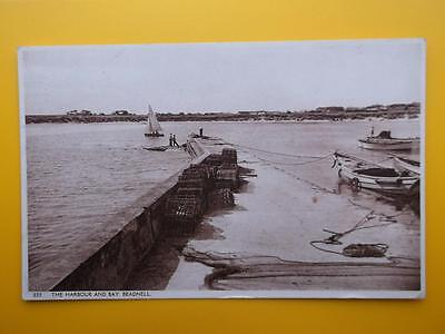 Harbour & Bay BEADNELL Nr Bamburgh Northumberland 1957 Boats Lobster Pots