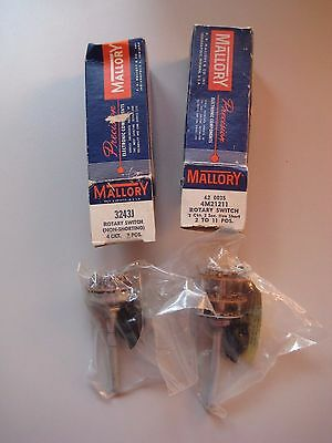 Two Mallory Rotary Switch 1 ea. 3242J and 4M21211