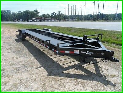 2016 Down to Earth 82x 34 open deck 2 car hualer trailer 14k GVWR New 30 flat 4'