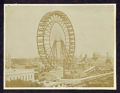 1893 Columbian Exposition Ferris Wheel C D Arnold Large Photograph A442