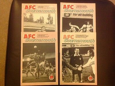 Afc Bournemouth 1982/83 Home Programmes X 4
