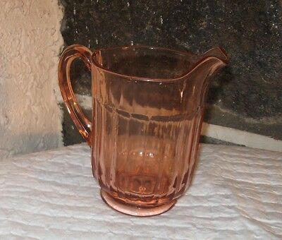 Pitcher old pink depression glass small 24 oz pitcher