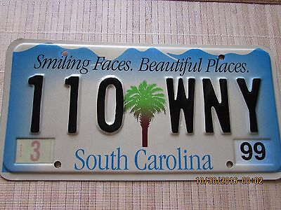 """South Carolina License Plate """"SMILING FACES. BEAUTIFUL PLACES"""" S.C. Tag"""