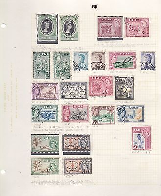 FIJI 1952-62 on 2 album pages to £1 used & few mint