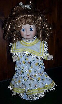 All Porcelain 12 Inch Collectible Doll by Patricia Stevens Loveless
