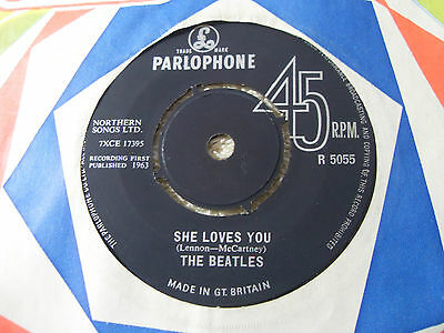 "THE BEATLES.......SHE LOVES YOU........7""..1963......1st PRESS........ROCK / POP"