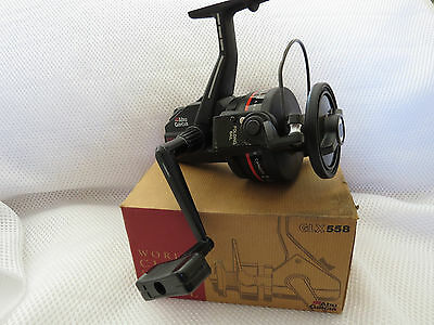 Abu Garcia 558 Glx Spinning Graphite Fishing Reel Boxed Excellent