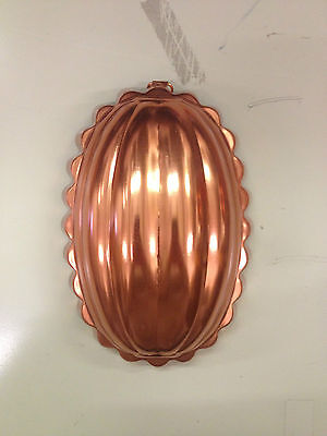 Oval Copper Jello Mold with Hanger
