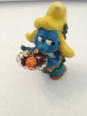 Smurfette With Tray Of Chocolates.