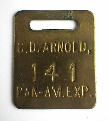 1901 Pan American Exposition C D Arnold Official Photographer ID Badge A444