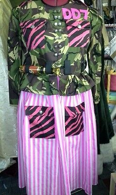 Funny Army Dames Costume  - Ideal For Panto, Sleeping Beauty Etc.