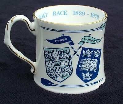 COALPORT 150th ANNIVERSARY OXFORD CAMBRIDGE BOAT RACE 1829 - 1979 MUG / CUP