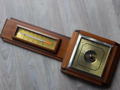 Vintage Shortland Smiths Sb Barometer & Thermometer British Made