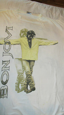 Bon Jovi Keep The Faith T-Shirt Made in the USA - White One Size Fits All