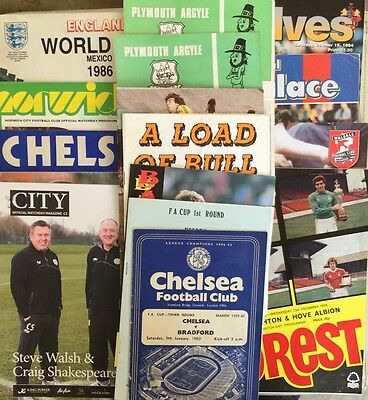 Collection of 16 Football Programmmes.