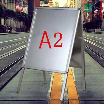 A2 Aluminum Poster Holder Advertising Signs Poster Stand Snap Frame Shop Display