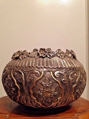 Ottoman Sterling Silver - Vase / Bonbonier - Beautifully worked with Gold - 19C!