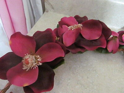 """Home Interior / Homco Magnolia Flower Swag Approx. 26"""" Wide"""