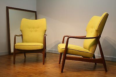 PAIR OF NEWLY UPHOLSTERED DALESCRAFT ARMCHAIRS, 50s - 60s VINTAGE RETRO DANISH