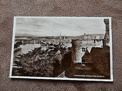 1950's Real Photo Postcard - Inverness from Castle - Scotland
