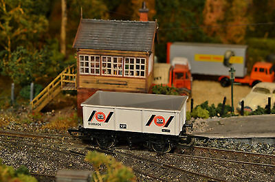 """Hornby """"oo"""" R009 B & Q Steel Sided Mineral Wagon, Complete, Damage Free, Vgc"""