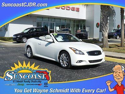 2011 Infiniti G37  2011 Convertible Used Gas V6 3.7L/226 7-Speed Automatic w/OD RWD Leather White