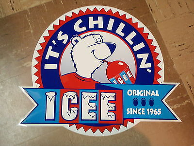 "ICEE Brand 19"" x 23"" Mountable Metal Sign New/Unused"
