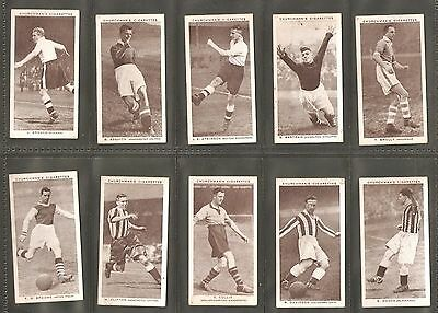 """28 of 50 Churchman """"Association Footballers"""" 2nd Series Cigarette Cards 1939"""