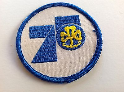 vintage cloth badge patch 75 years girl guides boy scouts ?