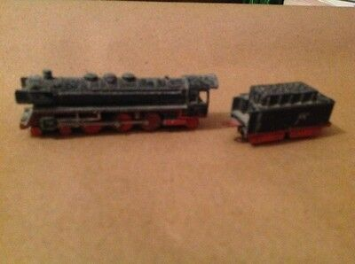 miniture train, cast metal made in west germany coal tendar too no atachment to