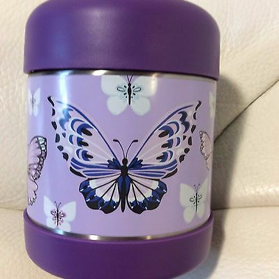 Pottery Barn Kids Mackenzie Hot & Cold Thermos Lavender Pretty Butterfly New