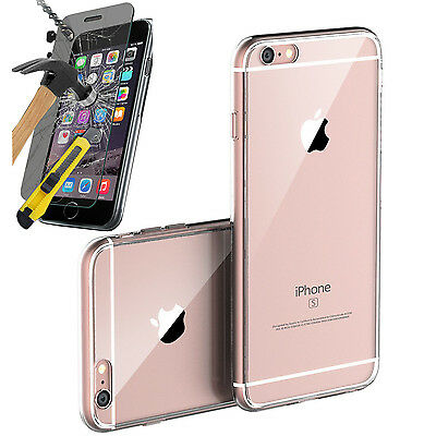 Toxic Bunny Clear Gel Case & Tempered Glass Screen Protector For Iphone 6