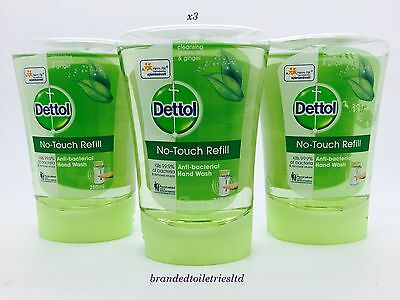 x3 Dettol No-Touch Hand Wash Refills green tea & ginger 250ml exp 11/17 !