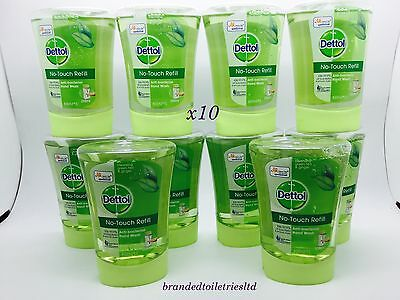x10 Dettol No-Touch Hand Wash Refills green tea & ginger 250ml exp 11/17 !
