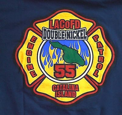 Catalina Island Station 55 LOS ANGELES COUNTY FIRE DEPARTMENT Dept SoCal shirt