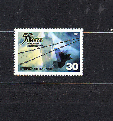 Cyprus  2001 Unhcr 50Th Anniv Set Mint Never Hinged