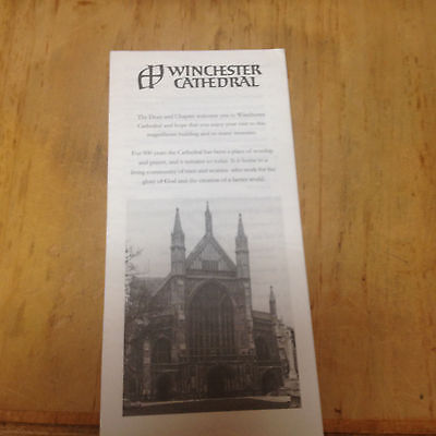 Winchester Cathedral UK, Map Brochure