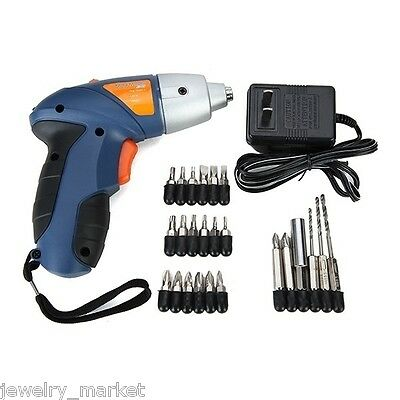 4.8V Rechargeable Mini Electric Screwdriver Cordless Drill Saw Tool +Accessories