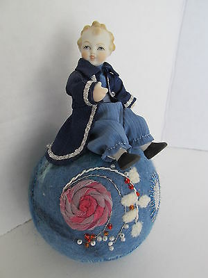 Artists Rendition One-Of-A-Kind Porcelain Prince Sitting On Top Of The World
