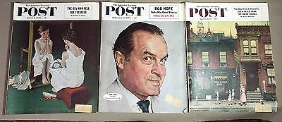 Lot of 3 The Saturday Evening Post Magazines 1953 1954  Norman Rockwell Covers